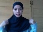hijab tutorial segi empat #1 Cara pakai Jilbab oleh Rania