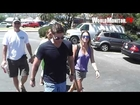 Supernatural Jensen Ackles and wife Danneel Harris leaving Malibu Chilli cook off 2012